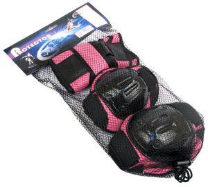 BESTSITE - Zestaw ochraniaczy M różowo-czarny