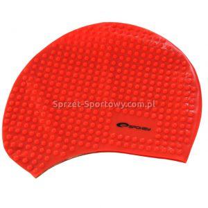 Czepek bąbelkowy silikonowy BELBIN czerwony